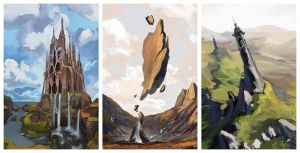 3 env sketches by AnDary