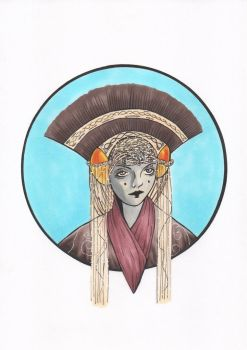 Queen Amidala -Markers- by renatomirre