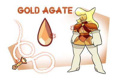 [P] - Gold Agate by FloofHips