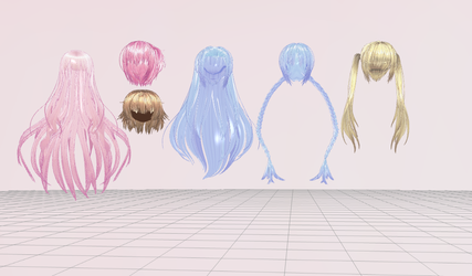 MMD- Legally Sane Hair Pack by Y0K0NI