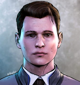 Connor from Detroit: Become Human (Telltale style) by Shuploc