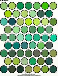 Green Palette Sheets by Writer-Colorer