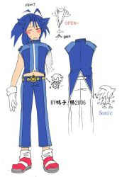 Sonic Human Clothes by tikal