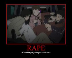 Durarara Motivational Poster by xXWolfDogXx