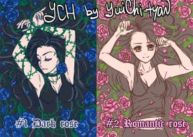[closed] YCH auction Romantic/Dark Roses by YuiChi-tyan