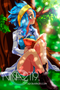 Levy Reading under the tree FT 396 by nina2119