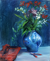 Flower Vase Still Life by james-talon