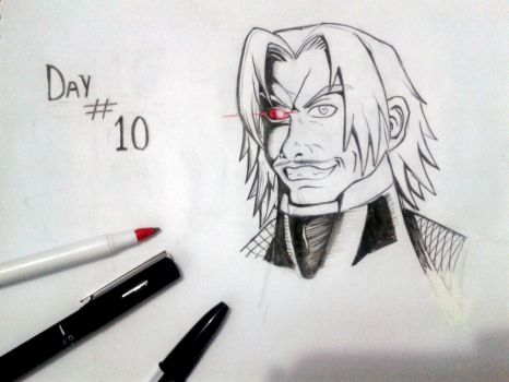 Inktober - Rugal (The King of Fighters) by TioTonyRedgrave