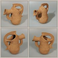 Boar shaped jug by Astalo