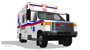 [MMD] Ford Ambulance (Beta) - DL - by MichaelOKeefe1991