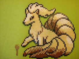 Ninetales in perler by chocolatosa88