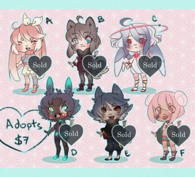 Adopts for sale! (CLOSED) by TheRainbowBear
