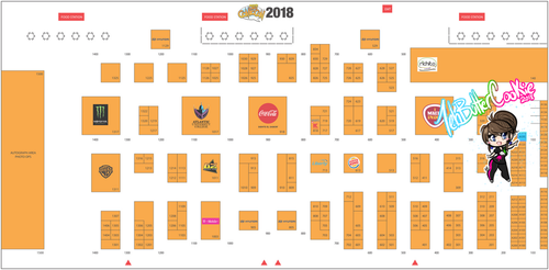 PRCC2018 Floor Map by TehButterCookie