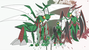 [c] Mantis Digimon by glitchgoat