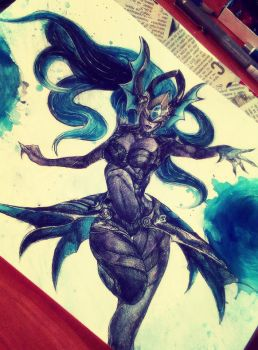 Atlantean Syndra by ZoeJanee