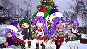 Squid/Octo-Mas Gathering (Christmas 2017) by Poool157