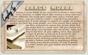 Cosplay Tip 46 - Large Molds by Bllacksheep