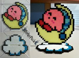 Bedtime Kirby by PerlerPixie