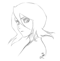 Rukia warm up! by Rongness
