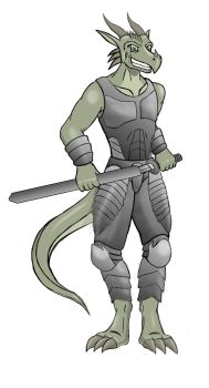 Devious Argonian concept by Paynefactor
