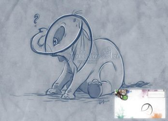 The Baby Elephant - The Scribble Challenge by Jullelin