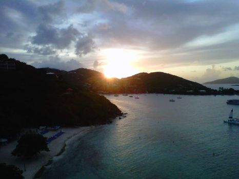 Sunset in St Thomas by ffrick73