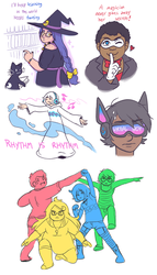 QWQ sketchdump by jennyjams