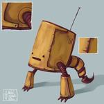Robotic Yellow by minicosmicgirl
