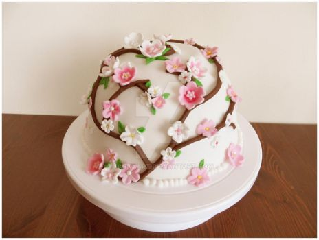 cherry blossom cake by JankaArt