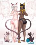 Siamese And Black Cat by nickonthedraw