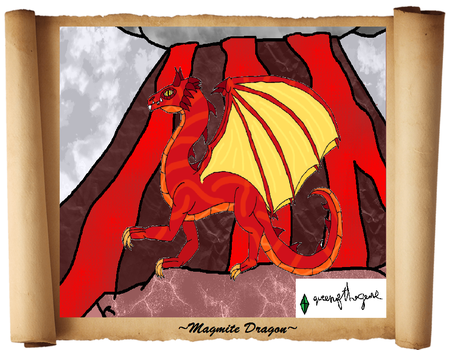 Dragon of Pure Fire, Magmite Dragon by queenofthegems