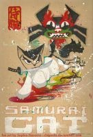 Samurai Cat Fan Box Lid by ChibiSofa