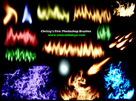 Chrissy's Fire PS Brushes by EmeraldTokyo