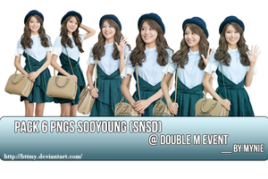 PACK 6 PNGs Sooyoung @ Double M event _By Mynie by bttmy