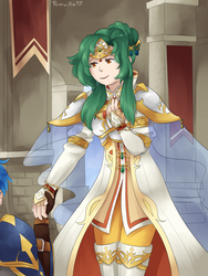 Elincia (and Geoffrey cameo) for FE Secret Santa by pumvilla
