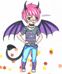 AT with xXNeonDemonXx - Nathan by MarieLaCreatrice028