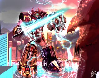 Megazord by JohnOsborne