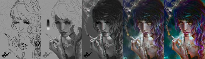 Smoke gril paint Process by Hype-Arts