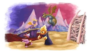 Spyro Skello's Badlands by Chief680