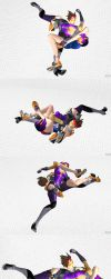 XPS wrestling: Tracer Octopus Hold Skye by fulgore12