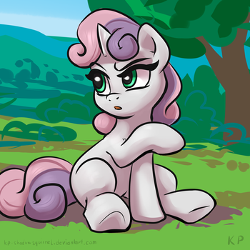 Speedpaint 09 - Sweetie Belle by KP-ShadowSquirrel