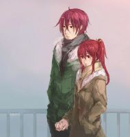 Holding Hands by sawa-rint
