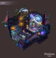 Voracious Games Potionomics Potion Shop Night by atomhawk