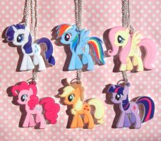 My Little Pony Friendship is Magic necklaces by KawaiiMoon24