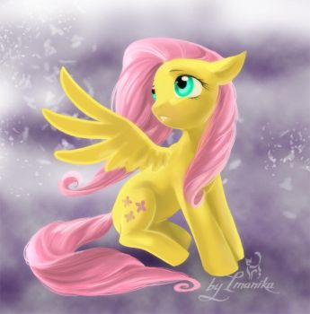 Fluttershy clouds by Imanika