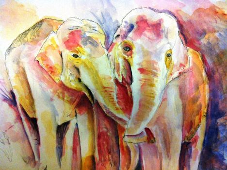 Colorful elephant by Eden-ArtFromTheHeart