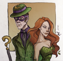 Riddler and Poison Ivy by FriZzair