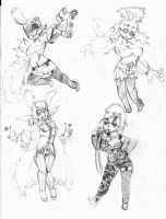 OC - Gwar, Ellen, Vox, Elysia by snoop19922002