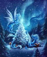 Winterdrakes by TrollGirl