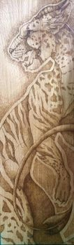 Pyrography on Beech panel by LauraClarkArt